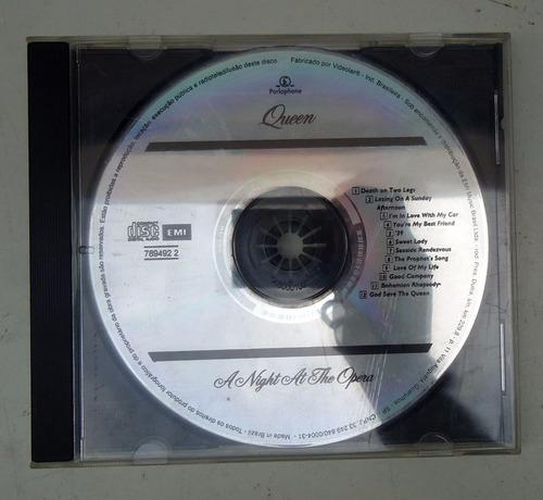 cd queen - a night at the opera - sem encarte, somente cd