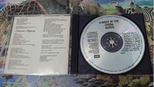 cd queen a nigth at the opera original ano 1989 raro