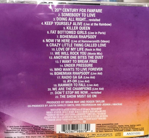 cd queen - bohemian rhapsody: the original soundtrack