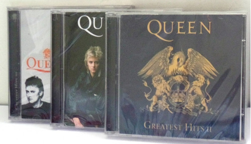 cd queen greatest hits 1 e 2 + greatest hits 3 + livro novos