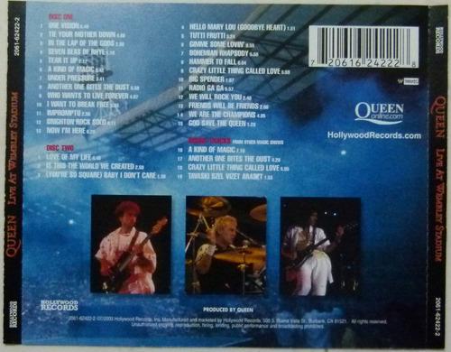cd queen - live at wembley stadium (duplo/importado)