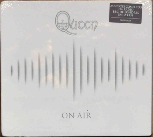 cd queen - on air (duplo lacrado digipack) freddie mercury