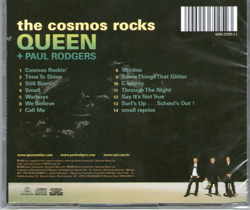 cd queen + paul rodgers - the cosmos rocks - novo***