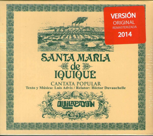 cd - quilapayun - cantata sta. maria -remaster 2014