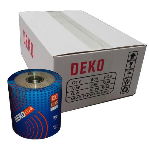 cd-r deko 700mb/ 80min 52x - caixa 600 midias