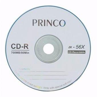 cd-r princo de 700 mb 80 minutos cono 100 unid.