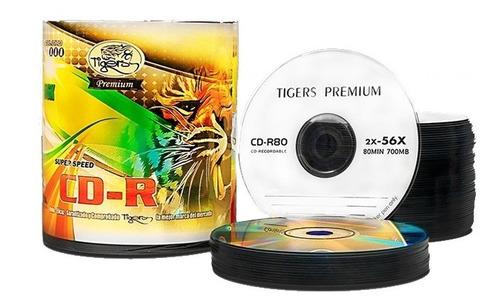 cd -r tigers 56x 80min 700mb - unidad a $430