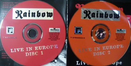 cd rainbow - live in europe (duplo/importado)