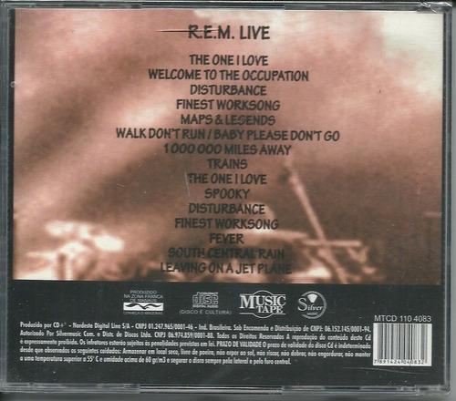 cd r.e.m. originals lives - novo, orig. lacrado