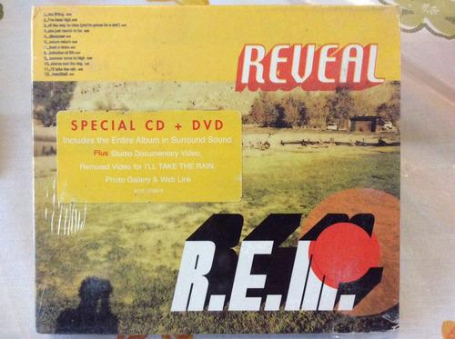cd rem  reveal special cd+dvd digipack importado