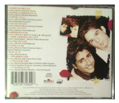 cd - rene & renny - quiero volver - 1999 - original