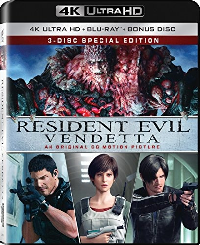 cd : resident evil: vendetta (with blu-ray, 4k mastering,...