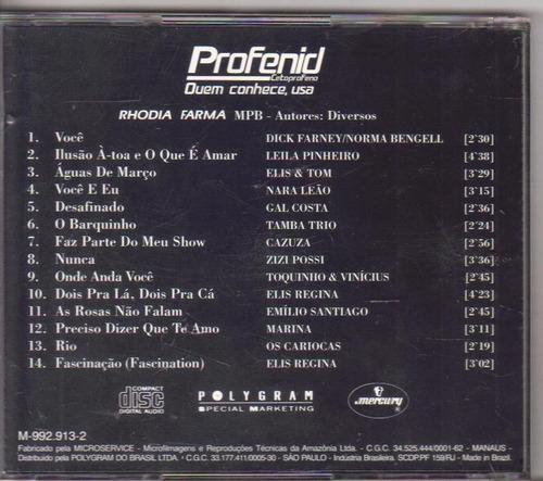 cd rhodia farma mpb - cantores diversos, original