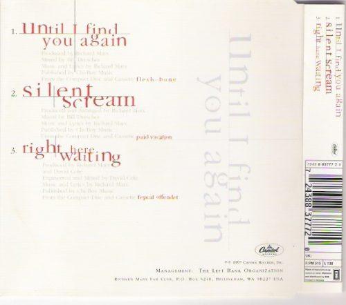 cd richard marx - until i final you again - single-raridade