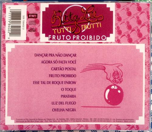 cd rita lee - fruto proibido (1975) ovelha negra /excelente
