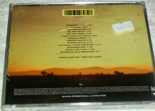 cd robbie williams / reality killed the video star nuevo