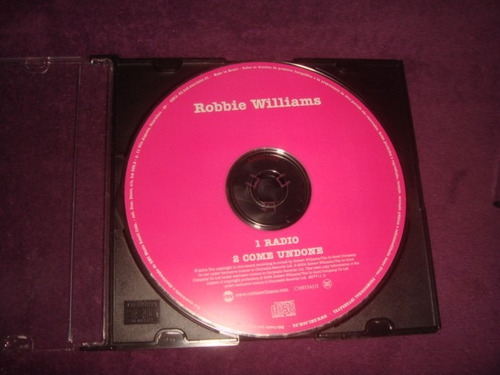 cd robbie willians / radio - single promocional