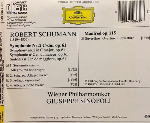 cd robert schumann symphonie no 2 manfred ouverture wiener