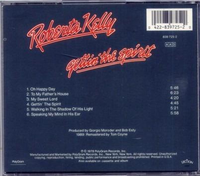 cd roberta kelly - gettin' the spirit (imp.)