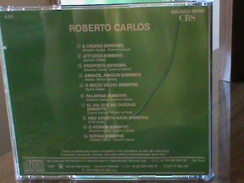 cd roberto carlos 1973 - selo: cbs zerado 1ª edição a cigana