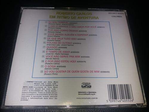 cd - roberto carlos  em  ritmo de aventura