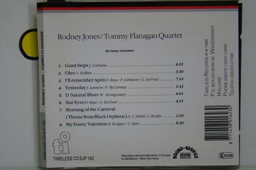cd - rodney jones/tommy flanagan quartet - importado