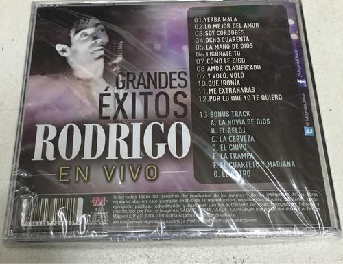 cd rodrigo  grandes éxitos  nuevo + cd de regalo