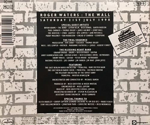 cd roger waters the wall live in berlin 2cds