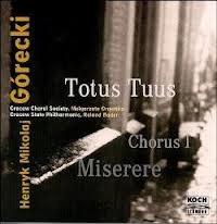 cd roland bader - górecki: totus tuus, chorus i, miserere /