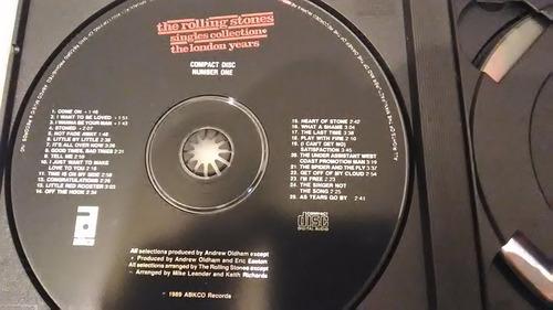 cd - rolling stones box 3 cd's importado . rock / blues