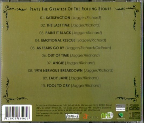 cd rolling stones - plays the greatest - novo***