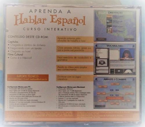 cd-rom aprenda a hablar espanol, curso interativo