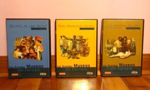 cd rom original, grandes museos de europa 3 discos/ acta.