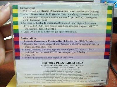 cd rom plantas ornamentais no brasil inglês e português -...