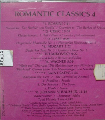 cd   -  romantic classics  -  4    -   b183