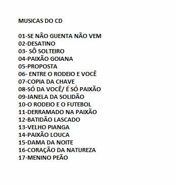cd ronaldo filho e araguaia - ao vivo no estudio