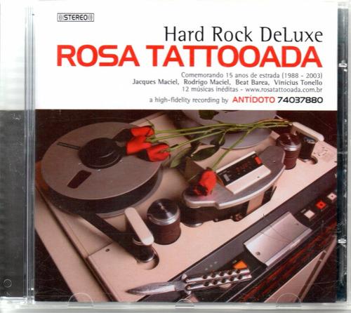 cd rosa tattooada - hard rock deluxe - 2003 - raridade