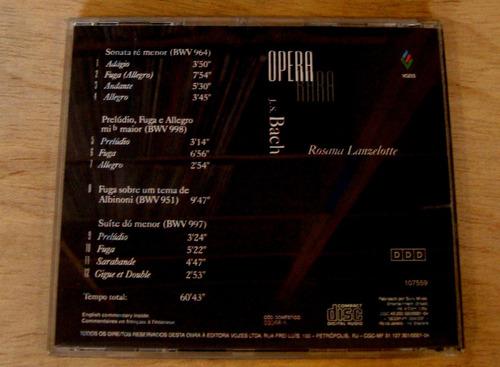 cd rosana lanzelotte - opera rara original raro