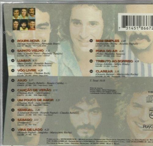 cd - roupa nova - minha história - 14 músicas