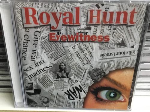 cd royal hunt  eyewitness   nuevo original cerrado