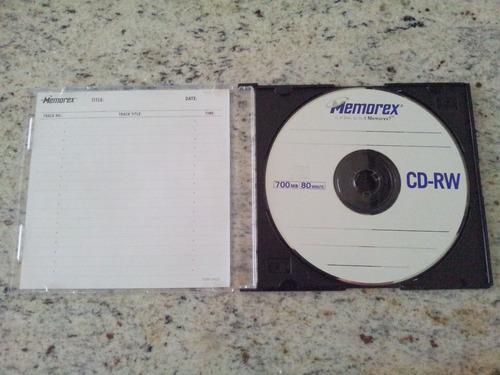 cd-rw 700mb / 80-minutos 4x memorex