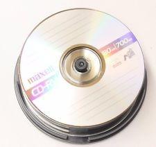 cd - rw maxell regrabable 700mb 80 min 1x-4x data music foto