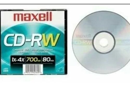 cd-rw reescribible maxell. 20 cds. mega precio ganga!