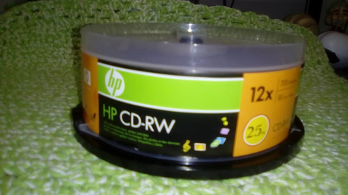 cd rw regrabable 4x-12x 80 min/700mb 100%nuevo-original hp