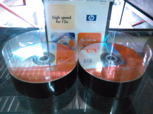 cd rw regrabable hp o tdk original virgen 4x-12x 80min/700mb