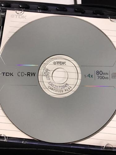 cd-rw tdk regrabable c/ caja acrilica xu
