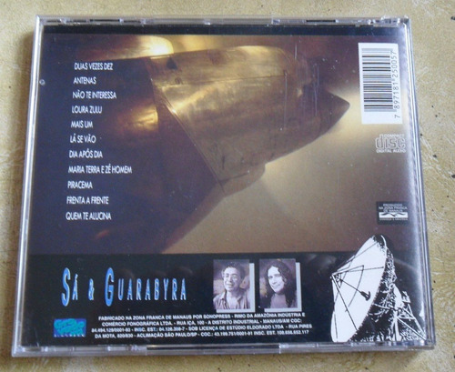 cd sá & guarabyra - gravadora eldorado.