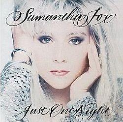 cd samantha fox - just one night (usado/otimo)