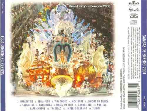 cd sambas de enredo 2001- rio de janeiro
