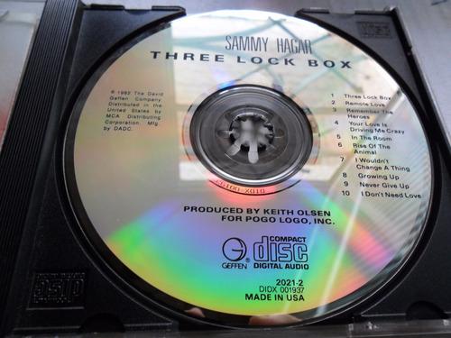 cd sammy hagar - three look box importado eua 1982